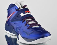 Nike Zoom Soldier VII 7 Deep Royal Blue Pure Platinum mens basketball shoes  NEW. Nike ZoomLebron JamesBasketball ...