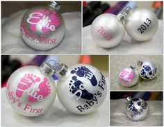 Baby's First Christmas Ornament  Personalized / by MileHighGifts, $8.00
