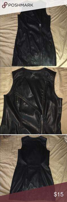 Black faux leather Moto jacket vest💞 Perfect condition never worn! Forever 21 Jackets & Coats