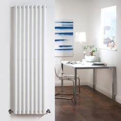 White Vertical Designer Radiator 1600x472mm - Image 1