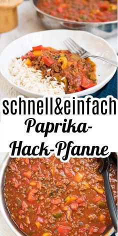 Schnelle Paprika-Hackpfanne Delicious, quickly prepared paprika mince with rice. Is on the table in under 30 minutes and is also no problem for beginners. With video to the recipe! Cooking Recipes, Healthy Recipes, Chili Recipes, Eating Plans, Pampered Chef, Healthy Chicken, Quesadillas, Eating Habits, Vegetable Recipes