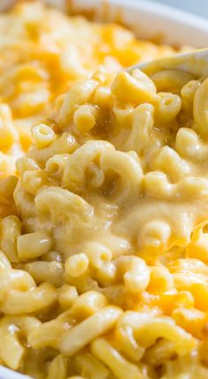 Super Creamy Mac and Cheese with cheddar, monterey jack, and velveeta ~ Insanely rich and delicious!
