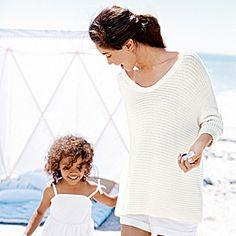 Chunky Horizontal Knit Jumper - Winter White