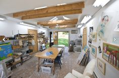 art studio design ideas for small spaces   ... pictured your garage as an art studio? A fitness room? A home office