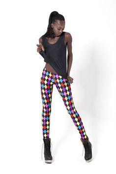 f61e1ec4696ab Rainbow Jester Leggings ~ my 80's staple lol Best Leggings, Tight Leggings,  Workout Leggings