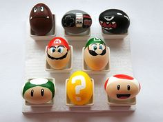 24 Easter Egg Designs To Dye For | A SUPER IDEA | Nintendo enthusiasts will jump for joy when they see these Super Mario-themed eggs made with acrylic paint and a Sharpie. (Omg I'm totally doing this one.)