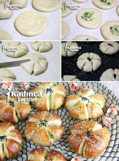 Potato Flower Pastry Recipe: - Top Of The World Donut Recipes, Pastry Recipes, Bread Recipes, Dessert Recipes, Cooking Recipes, Bread Shaping, Cuisine Diverse, Food Garnishes, Ramadan Recipes