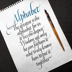 Alphabet. . . . #emanuelgeibel . #calligrafia #handmade #handmadefont #handlettering #typespire #calligraphy #calligraphymasters #typography #goodtype #strengthinletters #artoftype #thedailytype #typematters #typegang #typographyinspired #lettering...