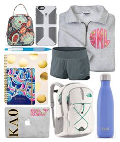 """School outfit"" by jadenriley21 on Polyvore featuring NIKE, Swell, The North Face, Lilly Pulitzer, Sugar Paper and Vera Bradley"