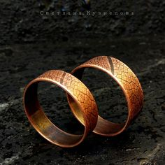 Copper wedding rings AnniversaryRing Copper wedding rings