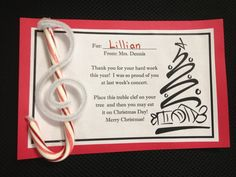 Many of you may have already seen my previous posts  about Treble Clef Candy Cane ornaments.          This is the 3rd year I have made thes...