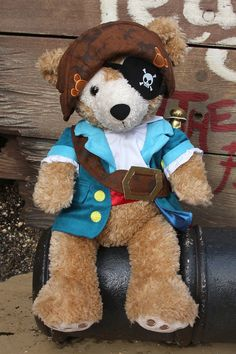 Pirate costume for Duffy the Disney Bear.