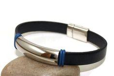 Men's leather bracelet  leather bangle  men's by LuckyBeadsBox