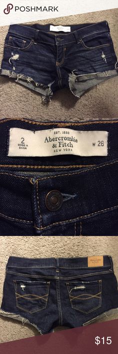 Abercrombie & Fitch Denim Shorts These are in like new condition! They are a size 2. Shorts Jean Shorts