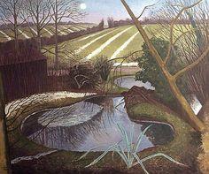 Fine Art Print of Winter Evening by John Northcote Nash Winter Landscape, Landscape Art, Landscape Paintings, Green Landscape, John Nash, Art Uk, Cool Landscapes, Your Paintings, Illustration Art