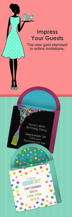 Paper invites are too formal, and emails are too casual. Get it just right with online invitations from Punchbowl. We've got everything you need for your birthday party.   http://www.punchbowl.com/online-invitations/category/47/?utm_source=Pinterest&utm_medium=27P