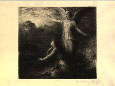 Le Paradis et la Péri, début (1884), lithograph by Henri Fantin-Latour (1836-1904), after Das Paradies und die Peri (1843), by Robert Schumann (1810-1856).