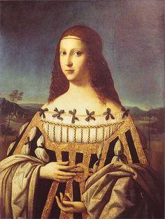 Bartolomeo Veneto (1470–1531). Портрет Беатриче д'Эсте.