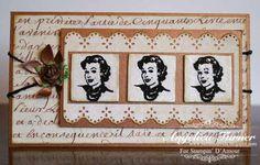 Stampin' D'Amour Vintage Card