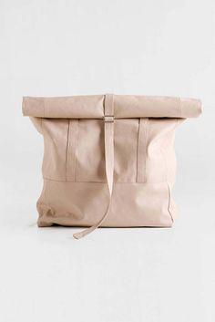 Commuter Backpack Convertible Tote Bag, Vegan Leather Backpack Rolltop Rucksack, Nude Leather Bag, Faux Leather Backpack, Vegan Travel Bag, Gift for her
