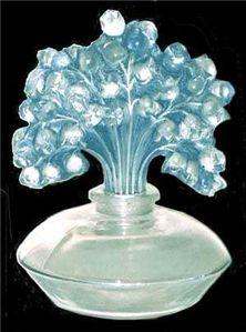 René Lalique Perfume Bottle    MUGUET