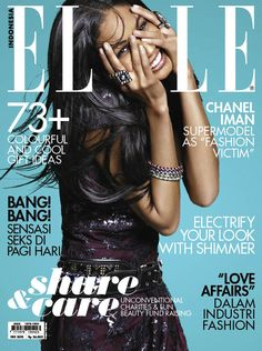 Chanel Iman for Elle Indonesia December 2010