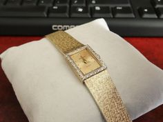 Movado 14K Gold and 29 Diamond Watch w/ 13mm 14K Gold Band! #Movado #LuxuryDressStyles