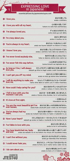 Expressing Love in Japanese