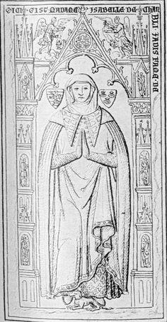 Effigies & Brasses: Isabelle de Chambly 14th Century Clothing, Plantagenet, Effigy, Costumes For Women, Gender Female, Death, Bronze, History, Fasteners