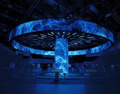 Multimedia Installations for the ATOMEXPO 2019 International Forum in Main Media Centre (Russia, Sochi). Bühnen Design, Event Design, Corporate Design, Graphic Design, Museum Exhibition, Exhibition Space, Exhibition Display, Stage Set Design, Home Room Design