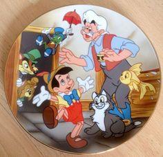 Kenleys Cartoon Classics Disney Pinocchio Jiminy Cricket & Gepetto China Plate