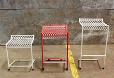Ryan Anderson of RAD Furniture is releasing the Howard Stool this month, named after his architect father. This all-weather stool is not only perfect for your outdoor bar, but it's stackable, too. Constructed entirely of welded steel with a powder-coat finish, it's available in three heights and many colors.
