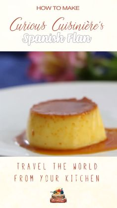 Spanish Flan is a creamy, baked egg custard dessert that is widely popular in Spain and in other areas around the world. It is an easy to make dessert, perfect for parties, and it can be made ahead of time. Pudding Desserts, Custard Desserts, Flan Dessert, Custard Recipes, Köstliche Desserts, Delicious Desserts, Dessert Recipes, Baked Custard Recipe, Flan Cake