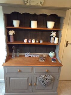 Ideas upcycled furniture pine shabby chic for 2019 Pine Furniture, Repurposed Furniture, Shabby Chic Furniture, Furniture Makeover, Shabby Chic Welsh Dresser, Furniture Ideas, Shabby Chic Kitchen, Home Decor Kitchen, Reclaimed Wood Dresser
