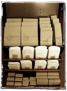 Annabel Gray - Tags, boxes, twine, bakery supplies, straws, jars, ribbon and more via Etsy