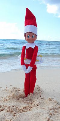 365 days of wonderful: Elf on the Shelf....Taking a quick dip