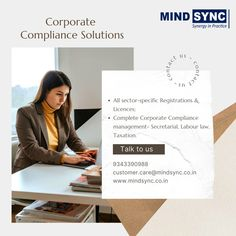 Mind Sync's #regulatory #compliance #team helps #organizations to ensure that they are aware of and have taken steps to comply with relevant #laws #rules #registrations and standards applicable to their operating environment at global and local level. Contact us: customer.care@mindsync.co.in | 9343390988 | www.mindsync.co.in #mindsyncindia #startup #smallbusiness #startupregistrations #license #labourlaw #legalmetrology #fssai #pesticideregistration #ayushlicense #cosmeticregistration Regulatory Compliance, Labor Law, Organizations, Environment, Management, Mindfulness, Business, Organizing Clutter, Store