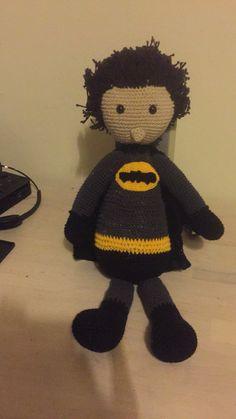 Batman Hæklet efter købeopskrift