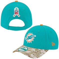New Era Miami Dolphins 2013 Salute to Service 9FORTY Adjustable Hat - Aqua/Digital Camo