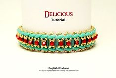 Tutorial Delicious Bracelet  beading pattern by FucsiaStyle