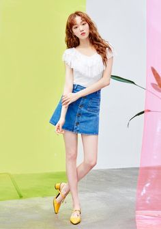 Style Outfits, Skirt Outfits, Japanese Fashion, Asian Fashion, Lee Sung Kyung Fashion, Weightlifting Fairy Kim Bok Joo, Korean Celebrities, Korean Actresses, Korean Outfits