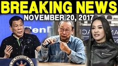 BREAKING NEWS TODAY NOVEMBER 20 2017 PRESIDENT DUTERTE l JOSE SISON NPA ...