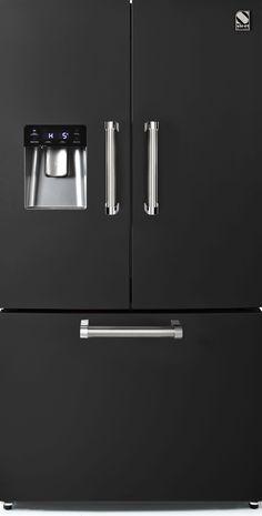 Steel - Genesi - Frittstående Kjøleskap med fransk dør - 90 cm | Range Cookers fra MyRangeCooker.no