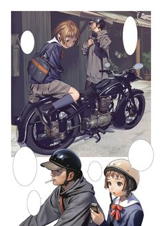 Beautiful Girls by Range Murata 10 Range Murata, Character Concept, Character Art, Concept Art, Character Design, Character Illustration, Illustration Art, Manga Artist, Bike Art