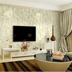 Mural em relevo estereoscópico mosaico quarto minimalista sala de TV de fundo Não-tecido papel de parede 3D papel de parede rolo de papel de parede(China (Mainland))