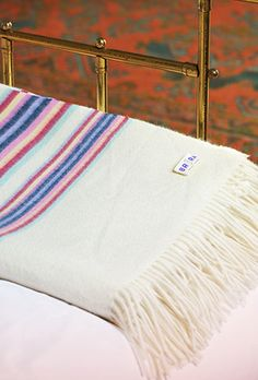 Cashmere Mexican Stripe Blanket