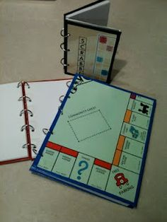 Journals made from board games