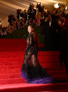 Beyonce @ 2012 Met Costume Gala, May 2012  Beyonce came late and then SHUT IT DOWN wearing this couture Givenchy.