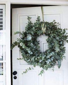 silvery green eucalyptus wreath