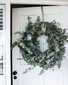 silvery green eucalyptus wreath